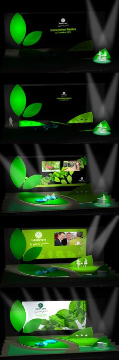 STAGE DESIGN - CORPORATE MEETING - GAMM VERT on Behance