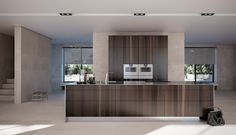 A kitchen with a very personal, exclusive and luxurious feel – Modulnova's kitchen with rustic inspiration. Discover it in our showrooms in Palma de Mallorca! Minimalist Kitchen, Minimalist Design, Handleless Kitchen, Elegant Kitchens, Fitted Kitchens, Modern Kitchens, Piece A Vivre, Cuisines Design, Home Decor