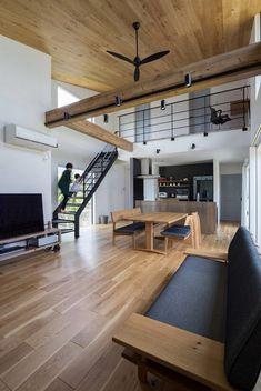 home design kitchen Loft Interior Design, Restaurant Interior Design, Loft Design, Interior Decorating, House Design, Loft Apartment Decorating, Japanese Modern House, Home Building Design, Loft Interiors