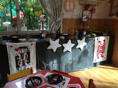 Magician table buffet