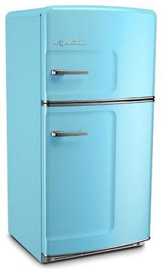 Retro Refrigerator, Beach Blue - traditional - refrigerators and freezers - Big Chill
