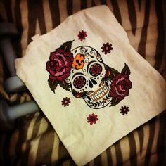 Candyskull, skull, roses, bag, cool