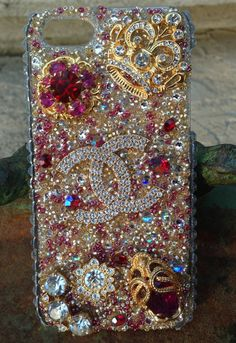 Cell Phone Cases - bling out my phone cover - Welcome to the Cell Phone Cases Store, where you'll find great prices on a wide range of different cases for your cell phone (IPhone - Samsung) Chanel Phone Case, Bling Phone Cases, Cute Phone Cases, Diy Phone Case, Iphone Phone Cases, Diy Case, Cell Phone Store, Cell Phone Covers, Decoden Phone Case