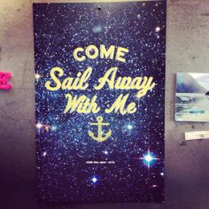 Styx  Come Sail Away song lyric poster by EttaVeeStudio on Etsy, $15.00