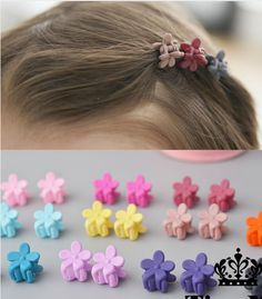 QA/_ Colorful Assorted Mini Small Plastic Hair Clips Claws Clamps Delightful