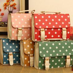 Vintage polka dots handbags/messenger bags