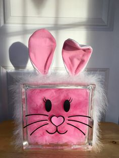 Pink Bunny / Pink Bunny Ears /  Easter  by CreativeGlassByBecky