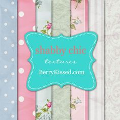 FREEBIE shabby chic texture papers by berrykissed.com