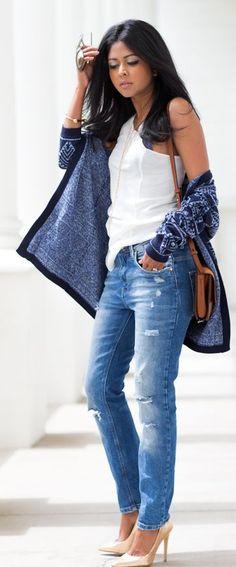 Girlfriend Jeans Streetstyle                                                                             Source
