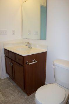 Modern Farmhouse Bathroom Makeover | Bless'er House - So many great ideas to create charm in a builder grade bathroom!