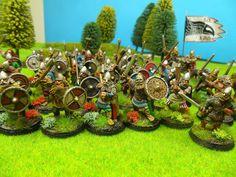 28mm Wargames Foundry Viking Raiding Party  2015 Client Commission