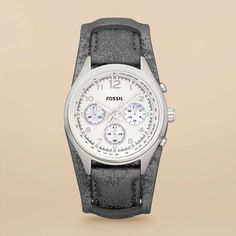 FOSSIL® Watch Collections Flight Watches:Women Flight Leather Watch - Pewter CH2796