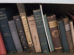 Henry W. Read some of these. Henry Wadsworth Longfellow, Poetry Books, Book Collection, Bookends, Reading, Reading Books