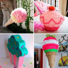 DULCE PIÑATA Candy Theme Birthday Party, Birthday Pinata, Candy Party, Candy Christmas Decorations, Birthday Party Decorations, Anniversaire Candy Land, Candyland, Diy Crafts To Sell, Kitsch