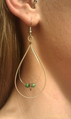 Hand made recycled Guitar String earrings