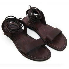 Sandalo martignano marrone da donna