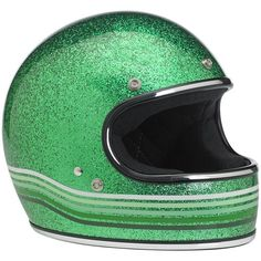 The Gringo from BILTWELL with a metal flake green decor - DOT rated.