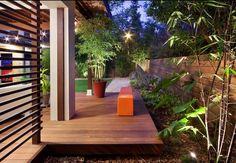 Colored mulch, garden decor and design