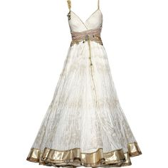 edited by Satinee - Tarun Tahiliani ❤ liked on Polyvore featuring dresses, gowns, vestidos, long dresses, white ball gowns, white evening dresses, long white dress, white gown and white dress