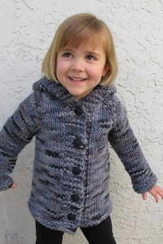 Knitting Pure and Simple - 126 - Children's Bulky Top Down Coat (2 - 14)