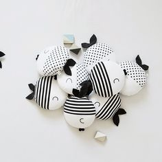 Oscar and Wanda pillow fish Minimal Monochrome Kids Toys