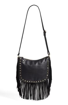Street Level 'Hobo' Faux Leather Fringe Crossbody Bag | Nordstrom// END OF SUMMER CLEARANCE SALE <3