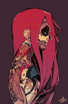 #art #tattoos #piercing #illustration #pink  #skull