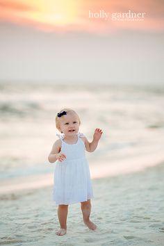 Seacrest Beach family beach photo | little girl | hollygardner.com