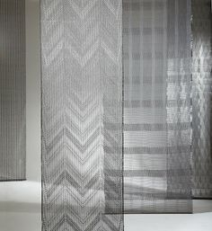 Karina Nielsen Rios  Room dividers, 2009  Woven in complex gauze  Stainless steel, kevlar and polyester  Handwoven