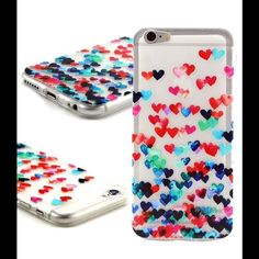 Just in✨✨✨IPhone 6 Plus skin✨✨✨ Still in package...New thin soft case rubber silicone clear gel phone skin with hearts... Really pretty! IPhone 6Plus Accessories Phone Cases