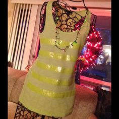 NEON TANK WITH HOLIDAY BRIGHT SEQUINS Dress it up cotton tank. Fun for a party, beach, picnic......Perfect for layering with ponchos, blazers, maxis. GLO Tops Tank Tops