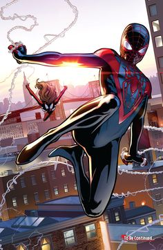 Miles Morales as an alternate Spider-Man. Quite fitting that a Hispanic should be Spider-Man seeing how the characters draws inspiration and aesthetics from Lucha Libre