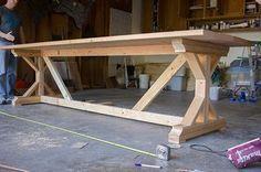 Kitchen Chronicles: Building a Fancy X Farmhouse Table   Jenna Sue Design Blog