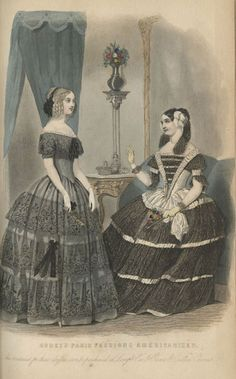 """Godey's Paris Fashions  Americanized,"" in Godey's Lady's Book (September, 1848)."