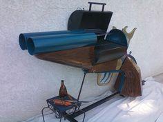 Double-Barrel Pistol-Grip Sawed-Off Shotgun BBQ grill