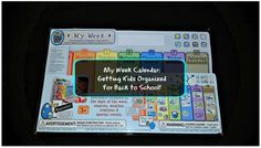 My Week Calendar: Getting Kids Organized for Back to School! Weekly Calendar, Special Events, Back To School, Organization, Day, Kids, Getting Organized, Young Children, Organisation