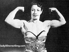 Mildred Burke, the greatest of the female pro wrestlers from the mid 30s to the early 50s.