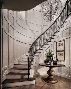 """Very impressive staircase by Toll Brothers! """