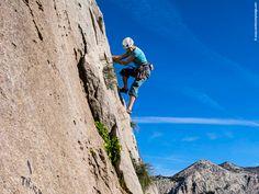 """Reaching """"The Sphinx"""" top is a real challenge, that few can achieve. The most popular #rock #climbing wall at the Cordillera Blanca #MountainRange, is a 2,000 ft. #granite formation located on the northern side of the Paron Valley. You can be assured that the view is worth it.   Conquistar la cima de """"La Esfinge"""" es un logro que pocos pueden alcanzar. La pared más popular de la #Cordillera Blanca, formada por más de 750 m. de granito, se encuentra al lado norte del Valle del Parón."""