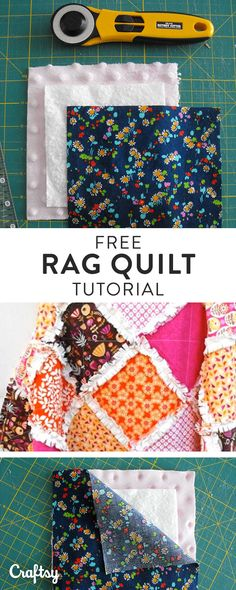 Making a Rag Quilt: A Tutorial on Craftsy Are you thinking about quilting something charming and cozy this winter? You should think about making a rag quilt! Learn how here >> Quilting For Beginners, Sewing Projects For Beginners, Quilting Tutorials, Quilting Projects, Craft Projects, Beginner Quilting, Quilting Tips, Machine Quilting, Project Ideas