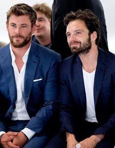 Chris Hemsworth and Sebastian Stan