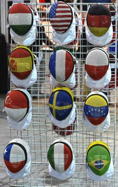 Fencing madks with country national flag pattern painted on. See FIE rules if you plan to use one in competitions. Olympic Fencing, Fencing Mask, Kids Choice Award, Fencing Sport, Painting Patterns, Fence, I Am Awesome, Cool Stuff, Sports