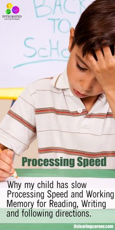 """Processing Speed: """"Mommy My Hand Won't Keep up with my Brain"""" – Slow Processing & Working Memory   ilslearningcorner.com"""