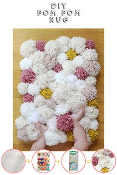 Make This: Diy Pom Pom Rug