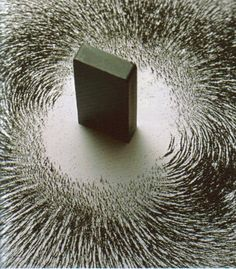 """Magnetism, Ahmed Mater Al-Ziad Aseeri        2009        Sculpture magnétique exposée à """"Edge of Arabia"""", Venise.    Saw this today; it was displayed in the British National Museum's Hajj exhibit. About his inspiration, the artist said that when his father told him of the attraction of the Muslims towards the Ka'ba, he thought of this."""