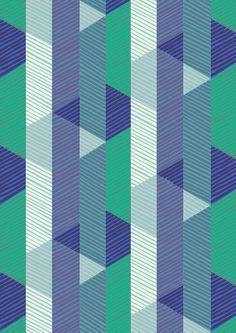 Allegro Blue Fabric by Imogen Heath
