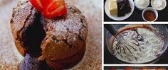 Extra jemné, lahodné croissanty s čokoládou Lava Cakes, Fondant, Cheesecake, Cupcakes, Breakfast, Food, Morning Coffee, Cupcake Cakes, Cheesecakes