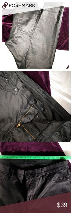 Rock & Republic skinny pants. Club wear jeggings I don't know how to describe these, but they sort of look like tight leather pants when on. They are quite stretchy and comfortable, so great dancing pants. Downside, is only the smallest front pocket is real. They are in excellent condition. Rock & Republic Pants Skinny