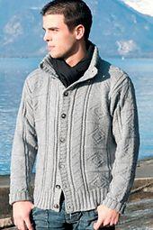 Ravelry: Man's Diamond Grey Jacket pattern by Filatura Di Crosa