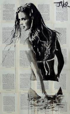 "Saatchi Art Artist LOUI JOVER; Drawing, ""blaze"" #art"